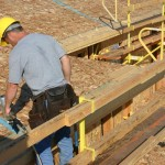 Ergonomically correct easy roof nailing.